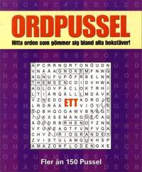 Ordpussel 1 : hitta orden som gömmer sig bland alla bokstäver!