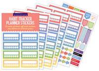 Essentials Habit Tracker Planner Stickers