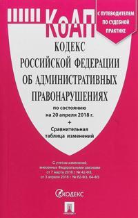 Kodeks RF ob administrativ.pravonarush. po sost.na 20.04.18.+ Sravn.tabl