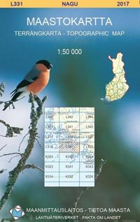 Maastokartta L331 Nagu 1:50 000