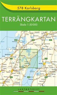 578 Karlsborg Terrängkartan : 1:50000