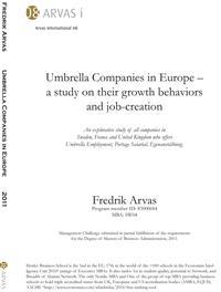 Umbrella companies in Europe - a study on their growth behavior and job-creation