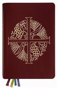 Den svenska psalmboken med tillägg (altarpsalmbok, rött skinnband)