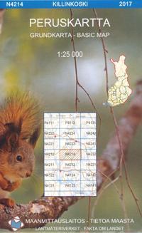 Peruskartta N4214 Killinkoski 1:25 000