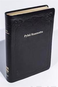 Raamattu (johdannoin, iso koko, iso teksti, musta R43, nahkakansi)