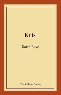 Kris - Karin Boye pdf epub