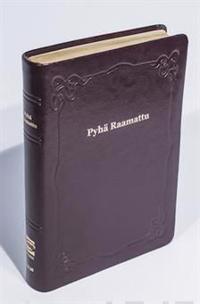Raamattu (johdannoin, iso koko, iso teksti, v.punainen, R45, nahkakansi)