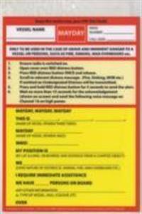 VHF DSC Mayday Procedure Card