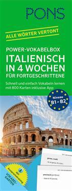 PONS Power-Vokabelbox Italienisch in 4 Wochen für Fortgeschrittene
