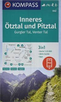 Inneres Ötztal und Pitztal, Gurgler Tal, Venter Tal 1:25 000