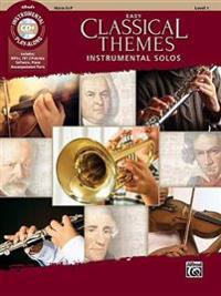 Easy Classical Themes Instrumental Solos: Horn in F, Book & CD