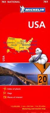USA Michelin 761 karta : 1:3,45milj