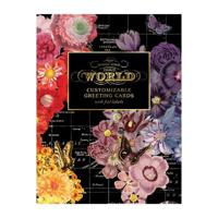 Wendy Gold Map of the World DIY Greeting Card Folio