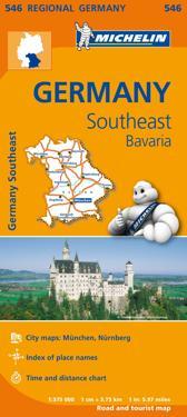 Bayern Michelin 546 delkarta Tyskland : 1:375000