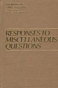 Responses to Miscellaneous Questions I 12