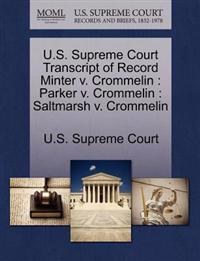 U.S. Supreme Court Transcript of Record Minter V. Crommelin
