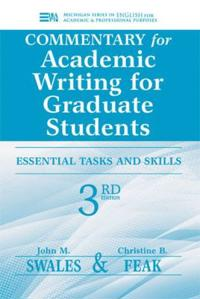 Commentary for Academic Writing for Graduate Students