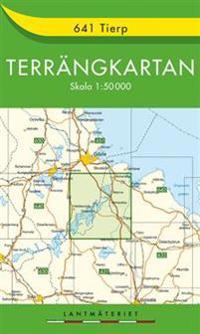 641 Tierp Terrängkartan : 1:50000