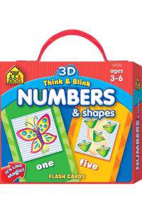 3D Think & Blink Numbers & Shapes Flash Cards