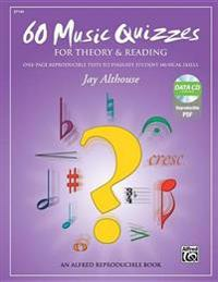 60 Music Quizzes for Theory and Reading: One-Page Reproducible Tests to Evaluate Student Musical Skills, Comb Bound Book & Data CD