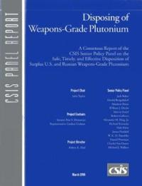 Disposing of Weapons Grade Plutonium