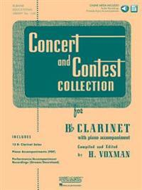 Concert and Contest Collection for BB Clarinet: Solo Book with Online Media [With CD (Audio)]