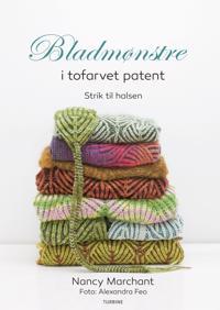 Bladmønstre i tofarvet patent