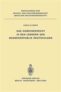 Das Gemeinderecht in den Landern der Bundesrepublik Deutschland