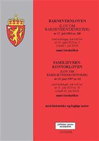 Barnevernloven ; Familievernkontorloven (lov om familievernkontorer) av 19. juni 1997 nr. 62 : med endringer, sist ved lov av 15. juni 2018 nr. 38 (i kraft 20. juli 2018) : samt forskrifter
