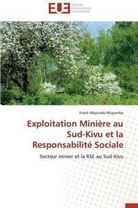 Exploitation Mini�re Au Sud-Kivu Et La Responsabilit� Sociale