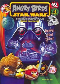 Angry Birds Star Wars: Ready! Aim! Fire!: Sticker Scene Plus Book to Color