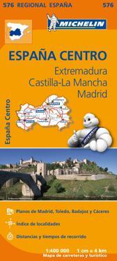 Extremadura Castilla La Mancha Michelin 576 delk : 1:400000