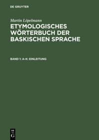 Etymologisches Worterbuch der baskischen Sprache