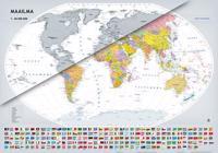Raaputettava maailmankartta 1:40 000