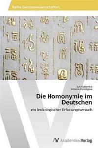 Die Homonymie Im Deutschen