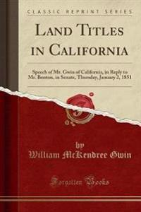 Land Titles in California