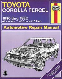 Toyota Corolla Tercel Automotive Repair Manual,   1980-1982