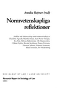 Normvetenskapliga reflektioner, rättssociologi som normvetenskap