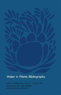 Water in Plants Bibliography, 1978