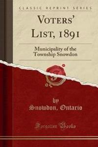 Voters' List, 1891