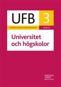 UFB 3 Universitet och högskolor 2018/19