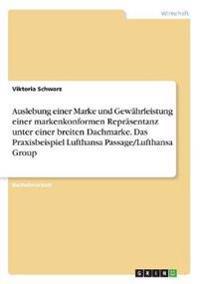 Auslebung einer Marke und Gewährleistung einer markenkonformen Repräsentanz unter einer breiten Dachmarke. Das Praxisbeispiel Lufthansa Passage/Lufthansa Group