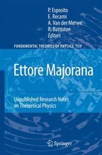Ettore Majorana: Unpublished Research Notes on Theoretical Physics