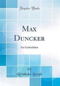 Max Duncker