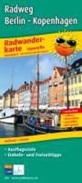 Radtourenkarte Radweg Berlin - Kopenhagen 1 : 50 000