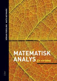 Matematisk analys En variabel