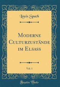 Moderne Culturzustände im Elsass, Vol. 1 (Classic Reprint)