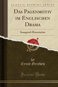 Das Pagenmotiv im Englischen Drama