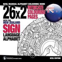 26x2 Intricate Colouring Pages with the New Zealand Sign Language Alphabet