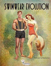 Swimwear Evolution: Beautiful Stress-Relief Illustrations of Summer, Beach, Vintage, '60s, 70s', 80s', 90s' Fashion. Adult Coloring Book.